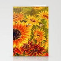 sunflowers Stationery Cards featuring SUNFLOWERS by Vargamari
