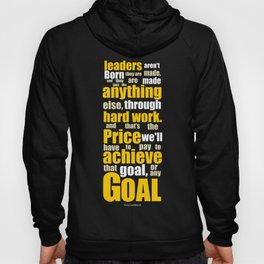 Lab No. 4 - Vince Lombardi Sport Inspirational Quotes Typography Poster Hoody