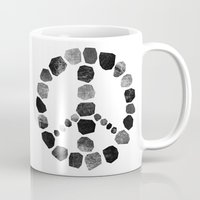 peace Mugs featuring Peace by Elisabeth Fredriksson