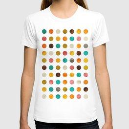 Autumnal polka dot T-shirt