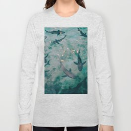 Shoal of Sharks (Color) Long Sleeve T-shirt