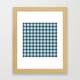 Pastel Blue Weave Framed Art Print