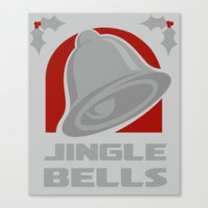 Jingle Bell - Silver Canvas Print