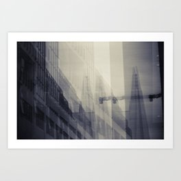 Shard Shadows Art Print