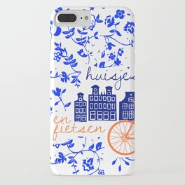 Amsterdam Houses and Bikes iPhone Case