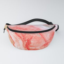 Luxury LIVING CORAL Agate Marble Geode Gem Fanny Pack