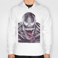 venom Hoodies featuring Venom by DeMoose_Art