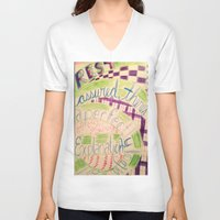 gravity falls V-neck T-shirts featuring Gravity Falls Quote by writingoverashes