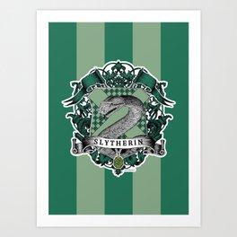 Slytherin Color Art Print
