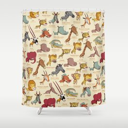 Animals Of Africa Shower Curtain