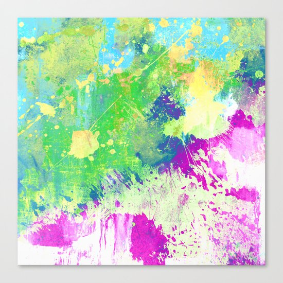 Love Colour (Abstract, colourful painting) Canvas Print