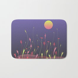 Nightscape with full moon Bath Mat