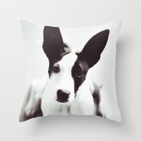 coco Throw Pillows featuring Coco by Beverly LeFevre