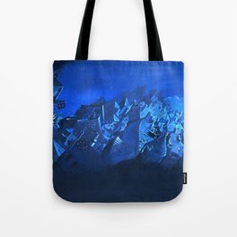 blue village Tote Bag