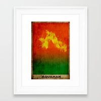 aquaman Framed Art Prints featuring AquaMan by Nicholas Hyde