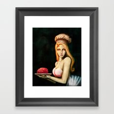 Cooking for zombies Framed Art Print