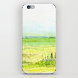 Green meadow iPhone Skin