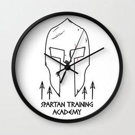 Spartan Workout Training Academy Wall Clock