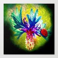 ladybug Canvas Prints featuring ladybug by haroulita