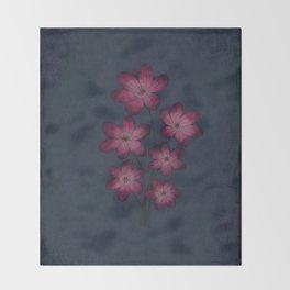 Burgon Wildflower  Lineart Grunge Bohemean Romance  Throw Blanket
