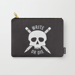 Write or Die -  Skull and Pencil Bones Carry-All Pouch