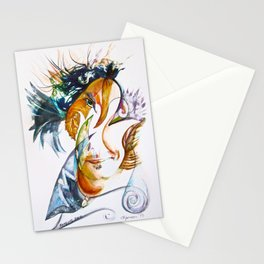 Merging Face Stationery Cards