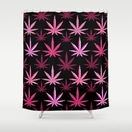Marijuana Magenta Pink Weed Shower Curtain