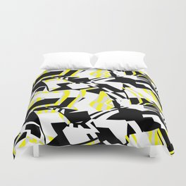Yellow Prickly Scraps Duvet Cover