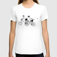 cycling T-shirts featuring Keep Cycling by Drew Linne