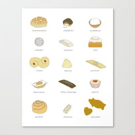 Swedish Cookies (fika) Canvas Print
