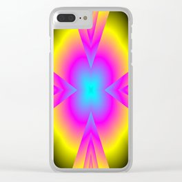 spectral colors Clear iPhone Case