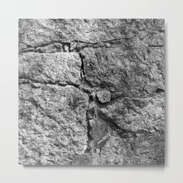 Old igneous stone wall Metal Print