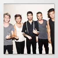 one direction Canvas Prints featuring One Direction by Max Jones
