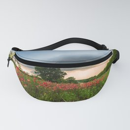Serendipity - Indian Paintbrush Wildflowers and Advancing Storm in Texas Fanny Pack