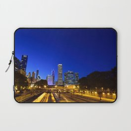 Silhouette Chicago skyline Laptop Sleeve