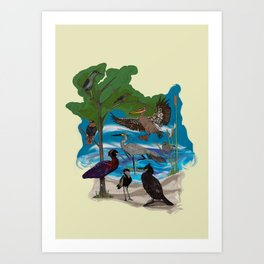 Some Birds Art Print