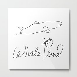 Whale Plane  Metal Print