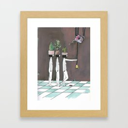 wait your turn Framed Art Print