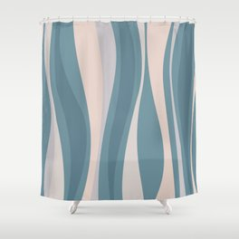 Blueprint Wavy Pattern 3 Shower Curtain