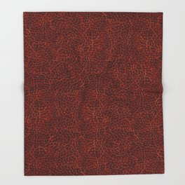 Rusty leather background textured abstract Throw Blanket
