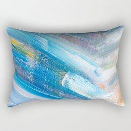 Modern Herringbone (Bright) Rectangular Pillow