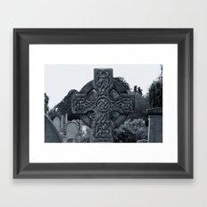 'CELTIC CROSS' Framed Art Print