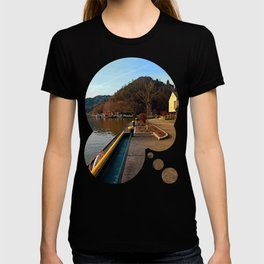 River Danube valley, at the harbour | waterscape photography T-shirt
