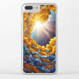 Starry universe abstract landscape Acrylic Painting on canvas Clear iPhone Case
