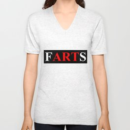 fARTs (Joke on eARTh bumper sticker) Unisex V-Neck