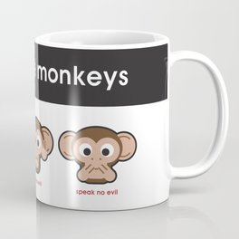 The 3 Wise Monkeys Coffee Mug