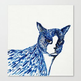 Boots in Blue Canvas Print