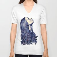 strong V-neck T-shirts featuring Bloom by KatePowellArt