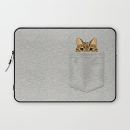 Pocket Tabby Cat Laptop Sleeve
