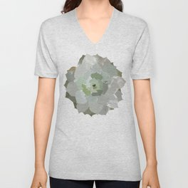 Watercolor Succulent Unisex V-Neck